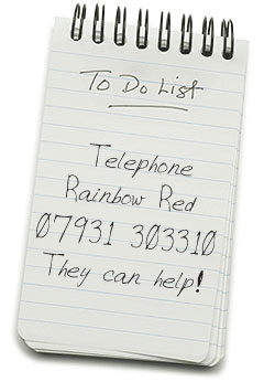 Telephone Rainbow Red - 07931 303310 - They can help!